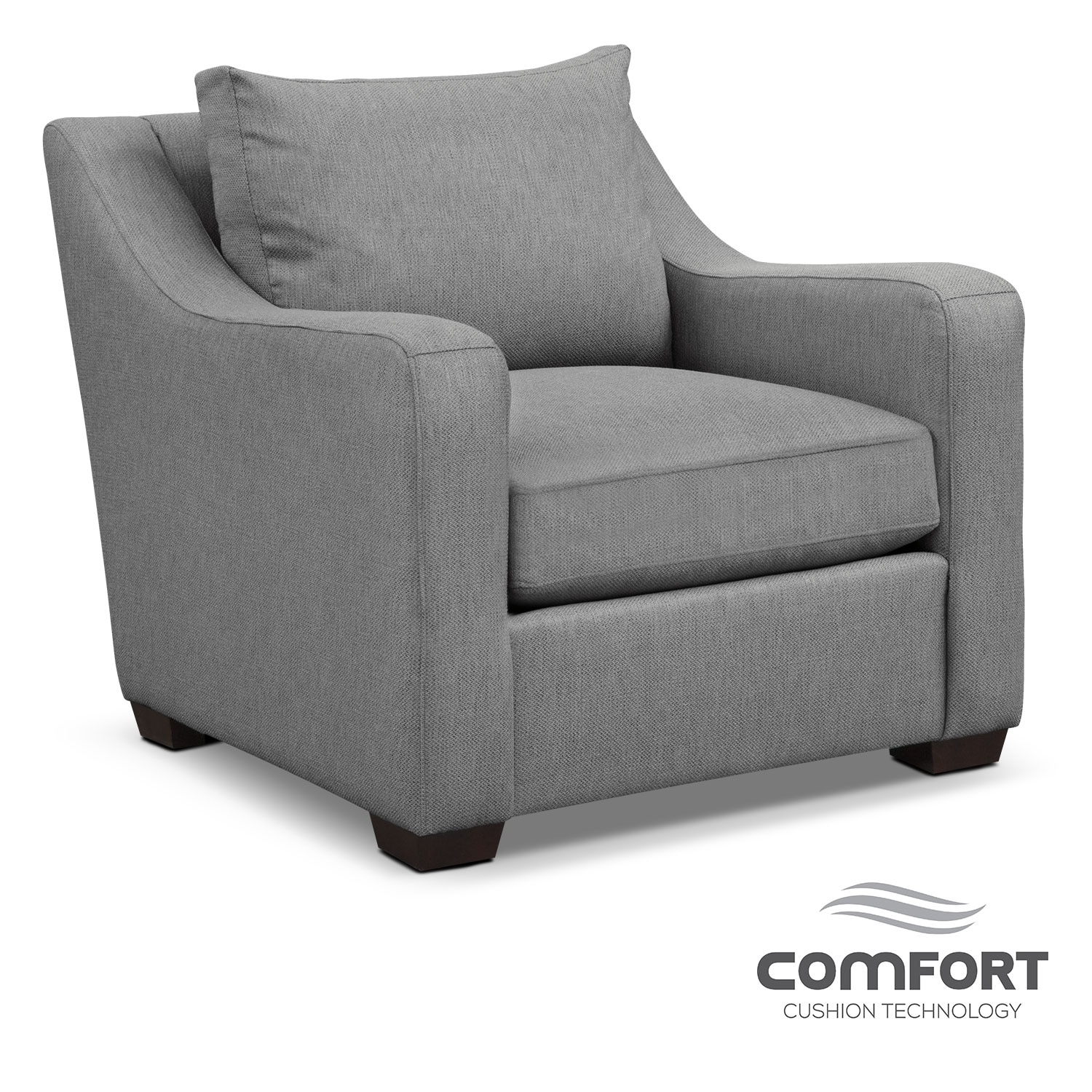 Living Room Furniture - Jules Comfort Chair- Gray