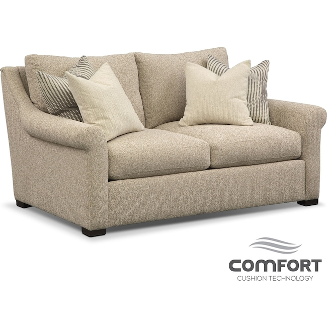 Living Room Furniture - Robertson Comfort Loveseat - Beige