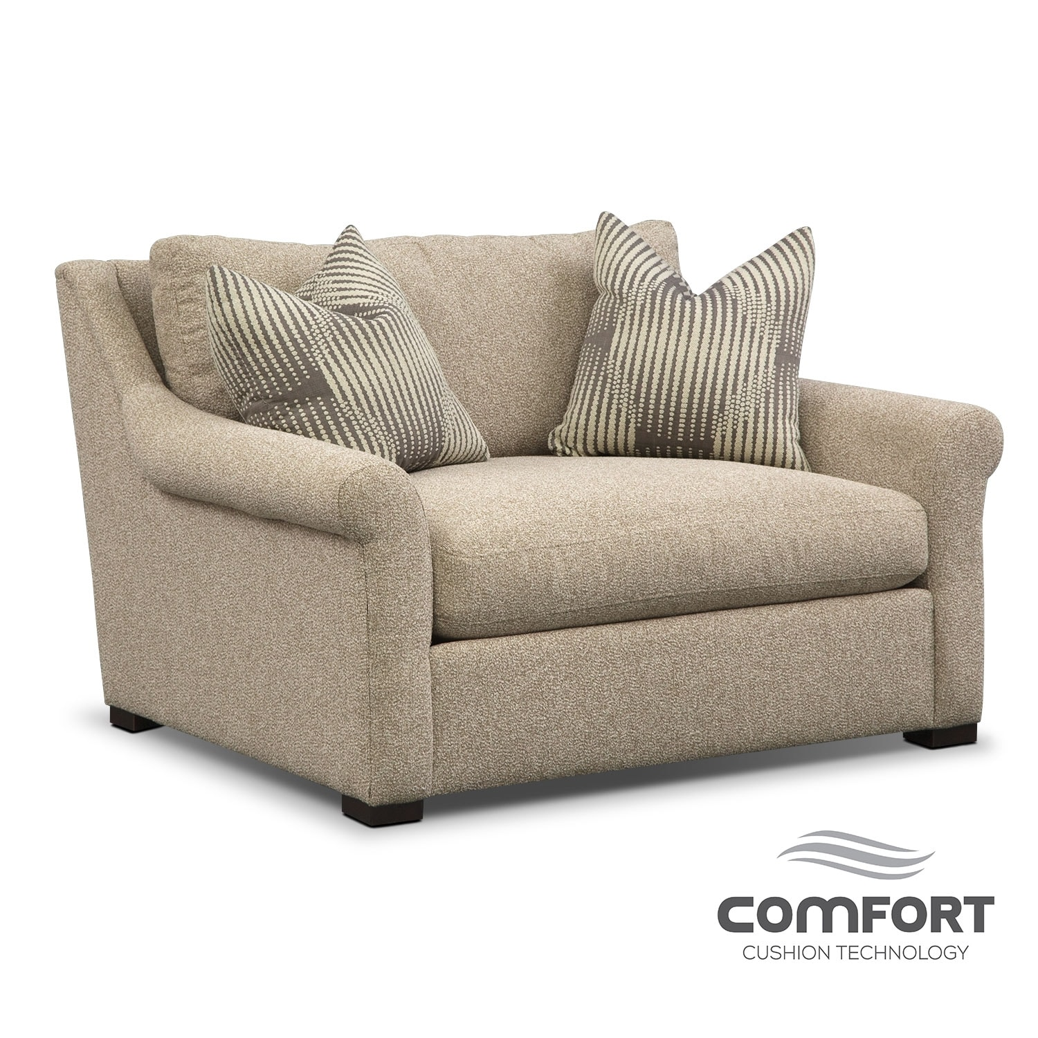 Living Room Furniture - Robertson Comfort Chair and a Half - Beige