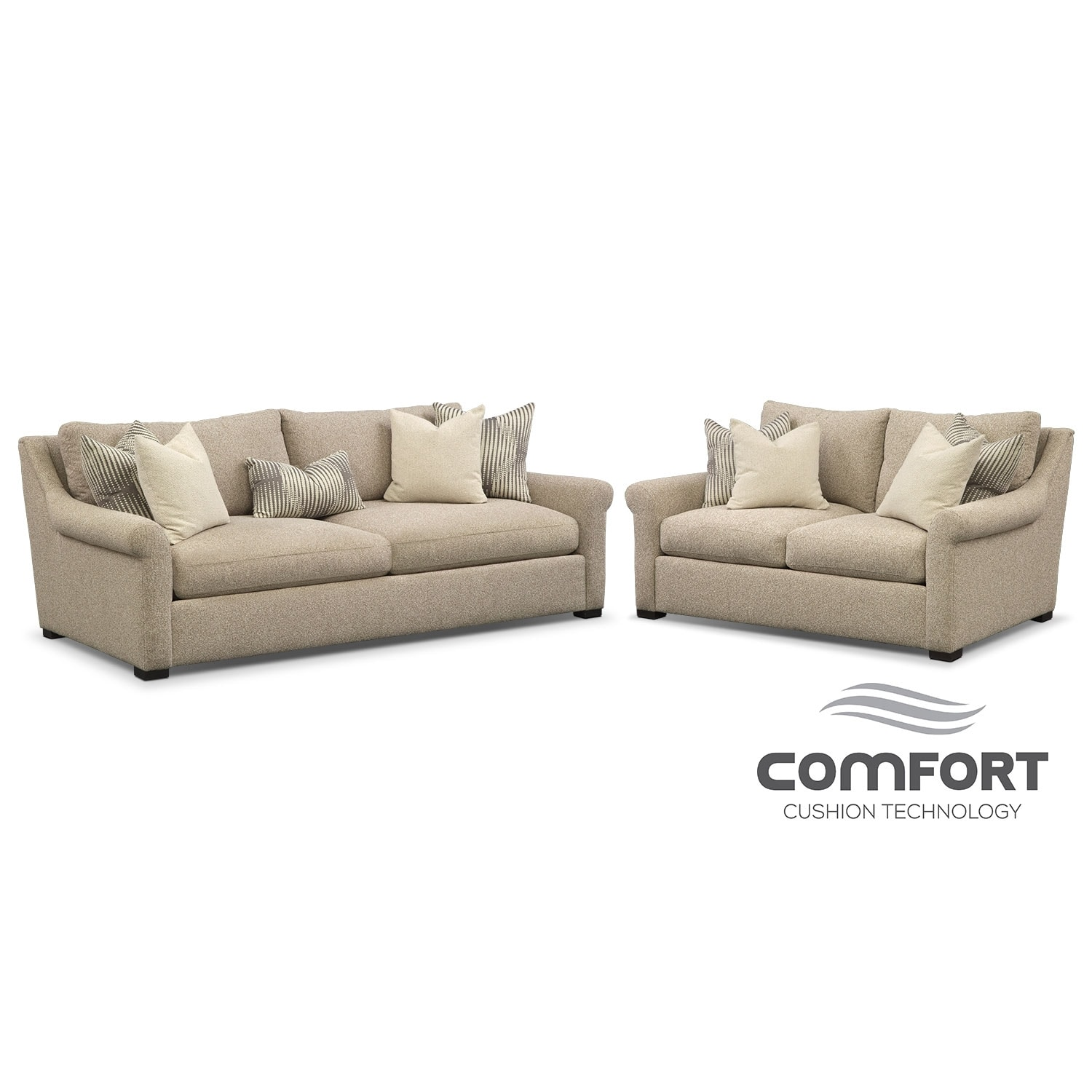 Living Room Furniture - Robertson Comfort 2 Pc. Living Room Package