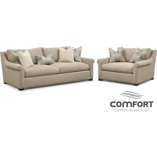 Robertson Comfort Sofa and Chair and a Half Set - Beige