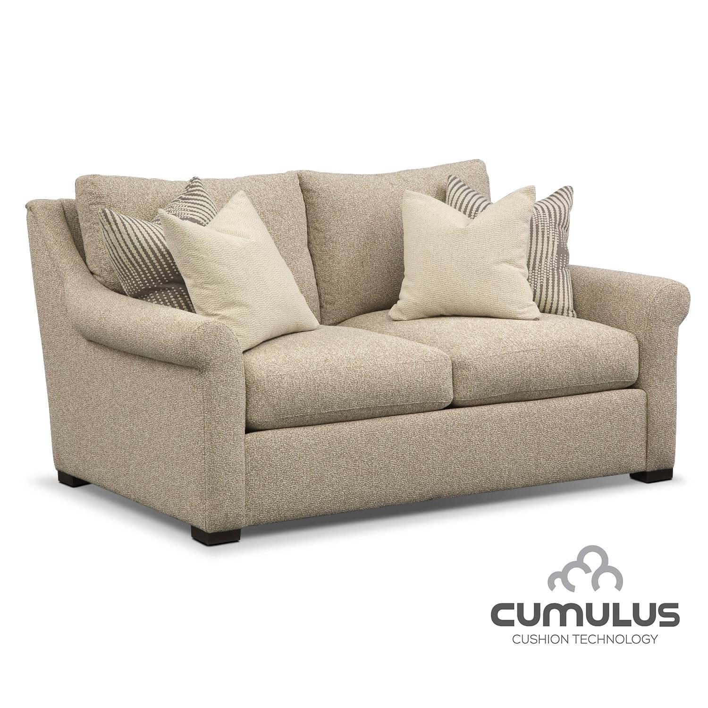 Living Room Furniture - Robertson Cumulus Loveseat - Beige