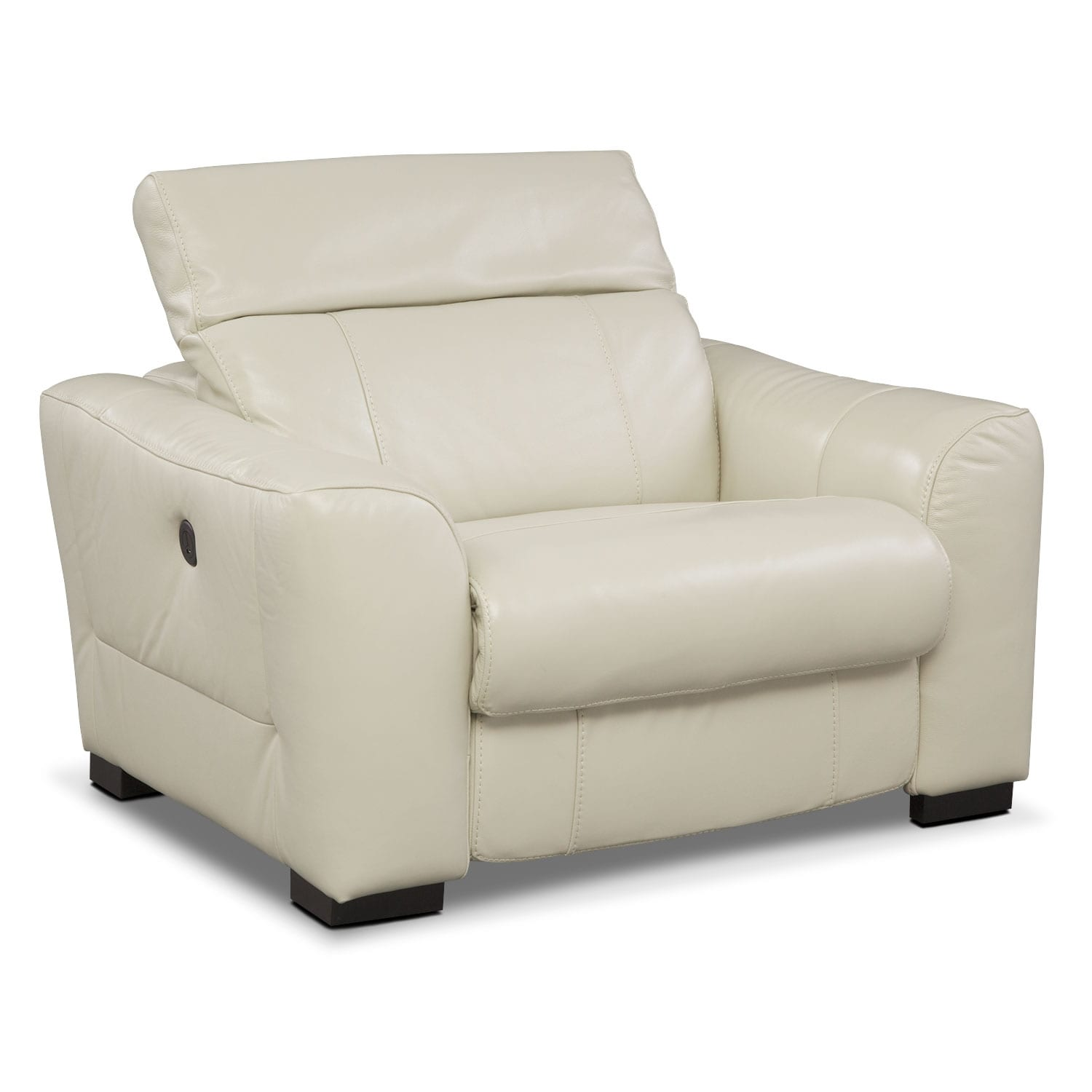 Living Room Furniture - Palisade Ivory Power Recliner