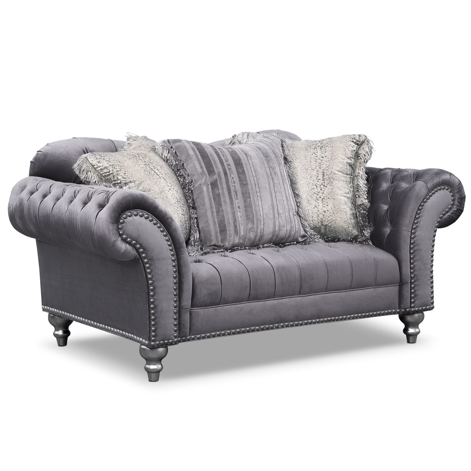 [Brittney Gray Loveseat]