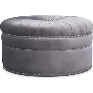 Brittney Cocktail Ottoman - Gray