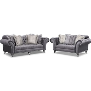 Brittney Sofa and Loveseat Set