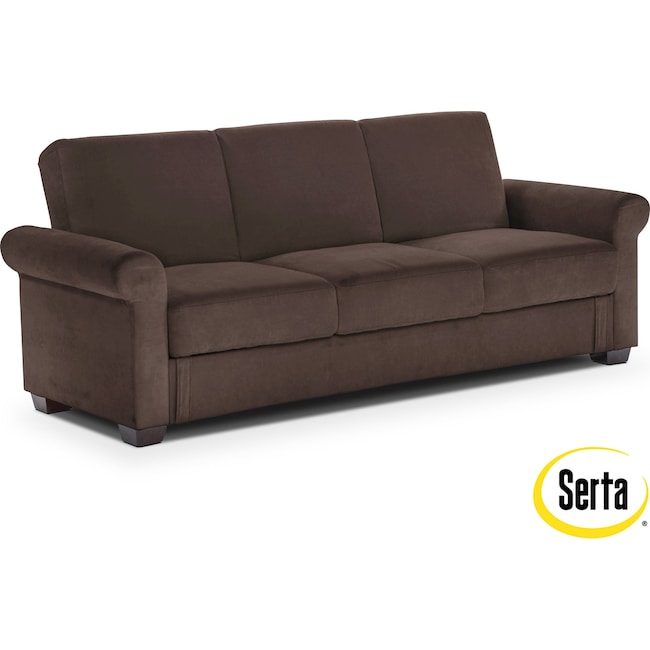 Accent and Occasional Furniture - Thomas Futon Sofa Bed with Storage - Java