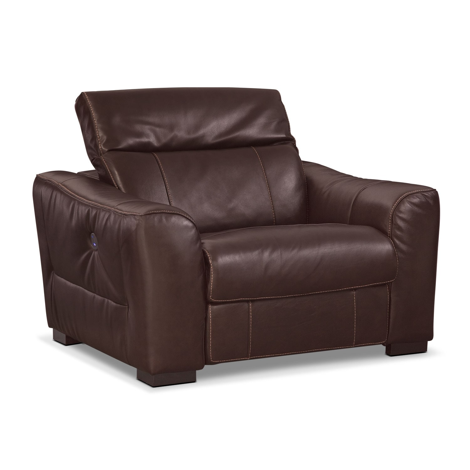 Living Room Furniture - Palisade Brown Power Recliner