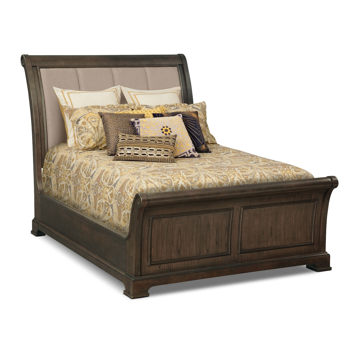 Bedroom Furniture - Collinwood Queen Bed - Brown