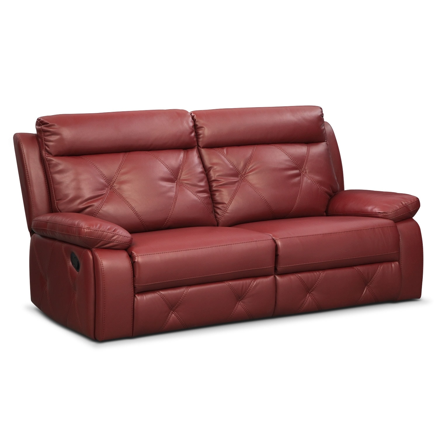 Living Room Furniture - Dante Red 2 Pc. Reclining Sofa