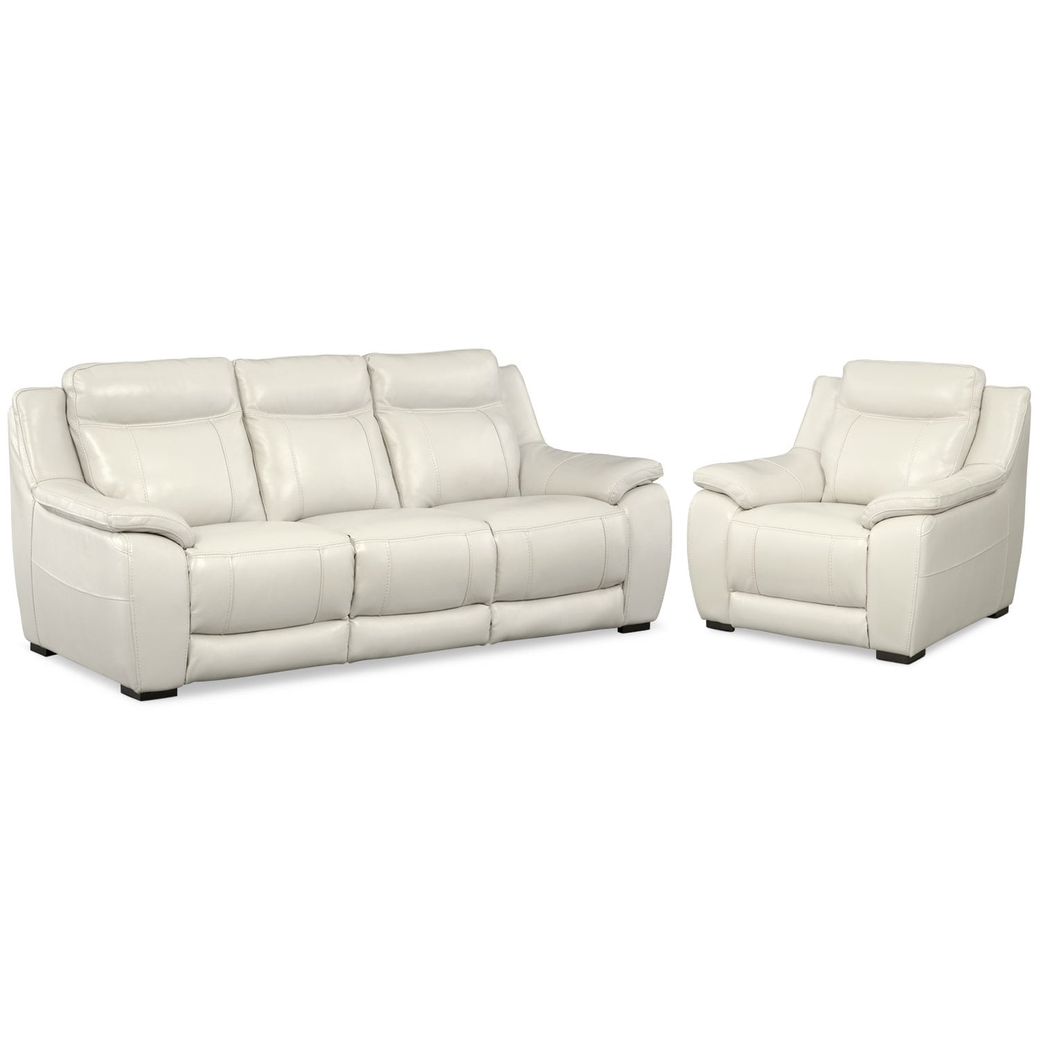 Living Room Furniture - Lido Ivory 2 Pc. Living Room w/ Chair