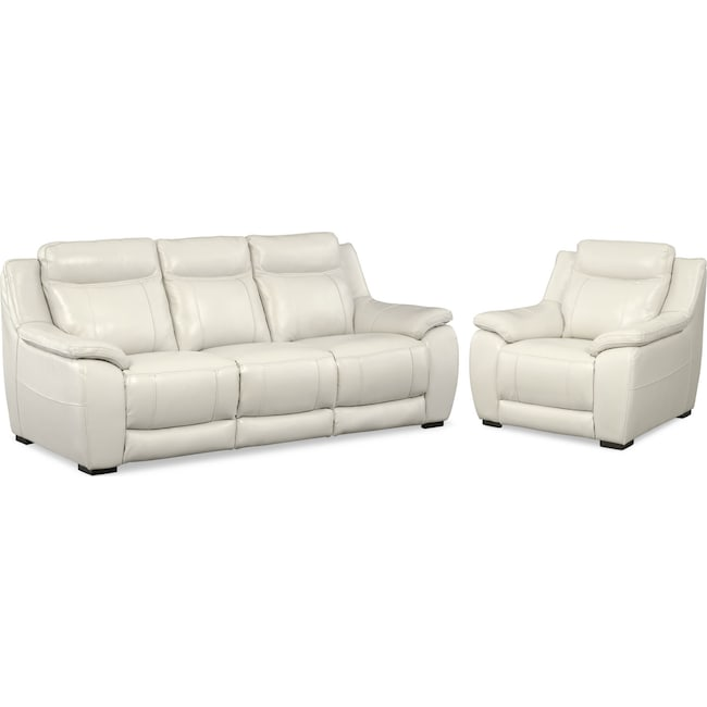 Living Room Furniture - Lido Sofa and Chair Set - Ivory