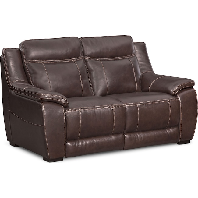 Living Room Furniture - Lido Loveseat - Brown