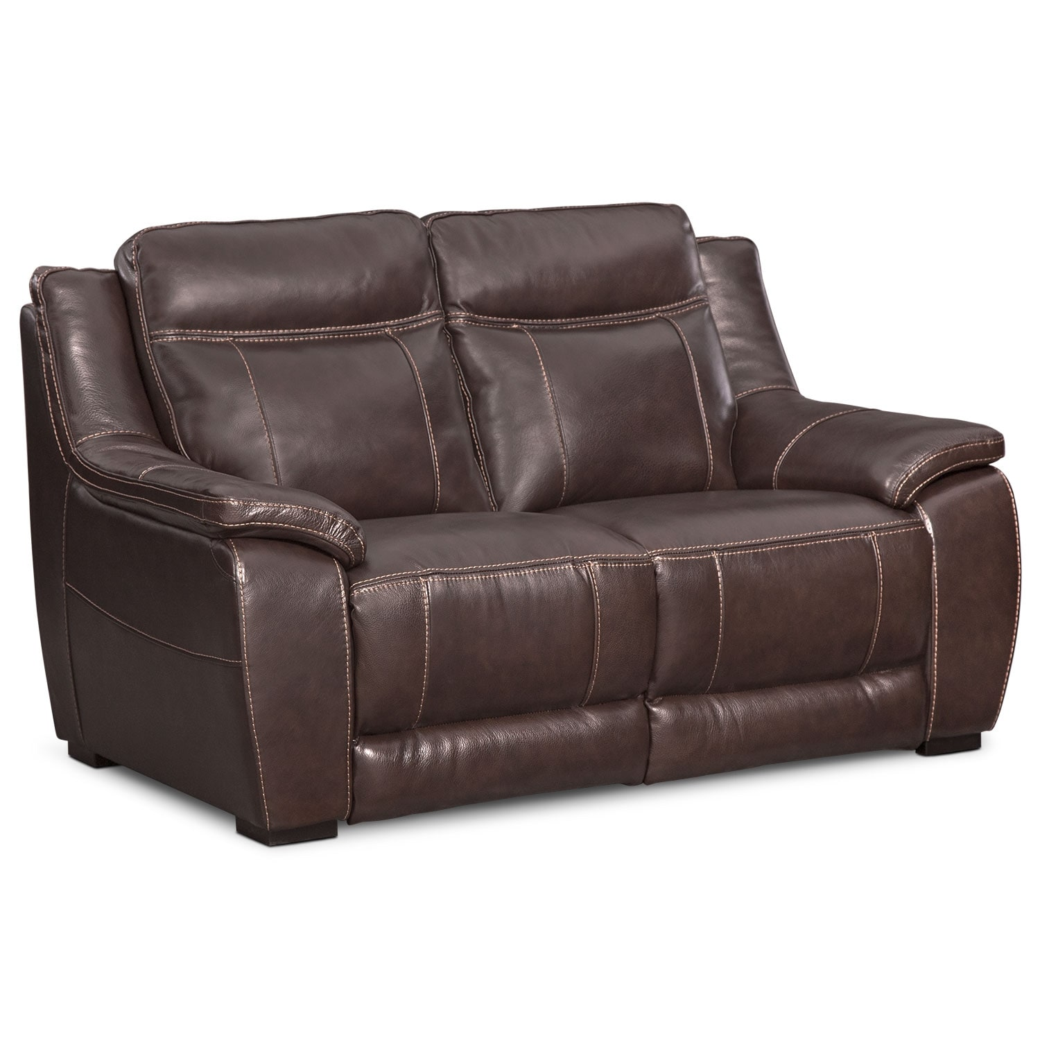 Delicieux Lido Loveseat   Brown