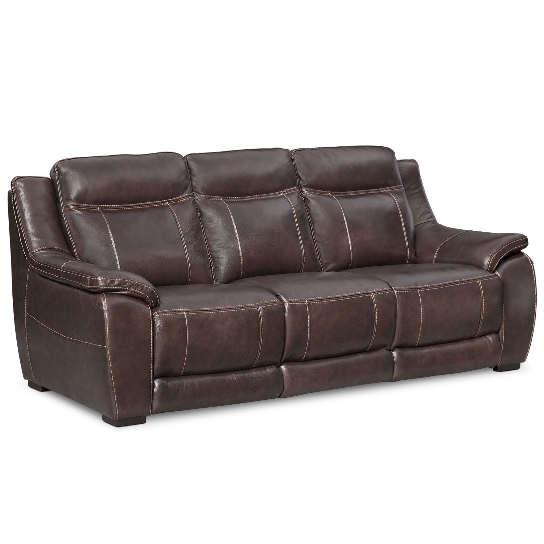 Living Room Furniture - Lido Brown Sofa