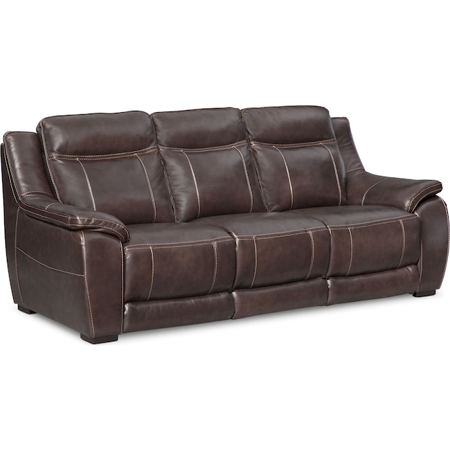 Living Room Furniture - Lido Sofa - Brown
