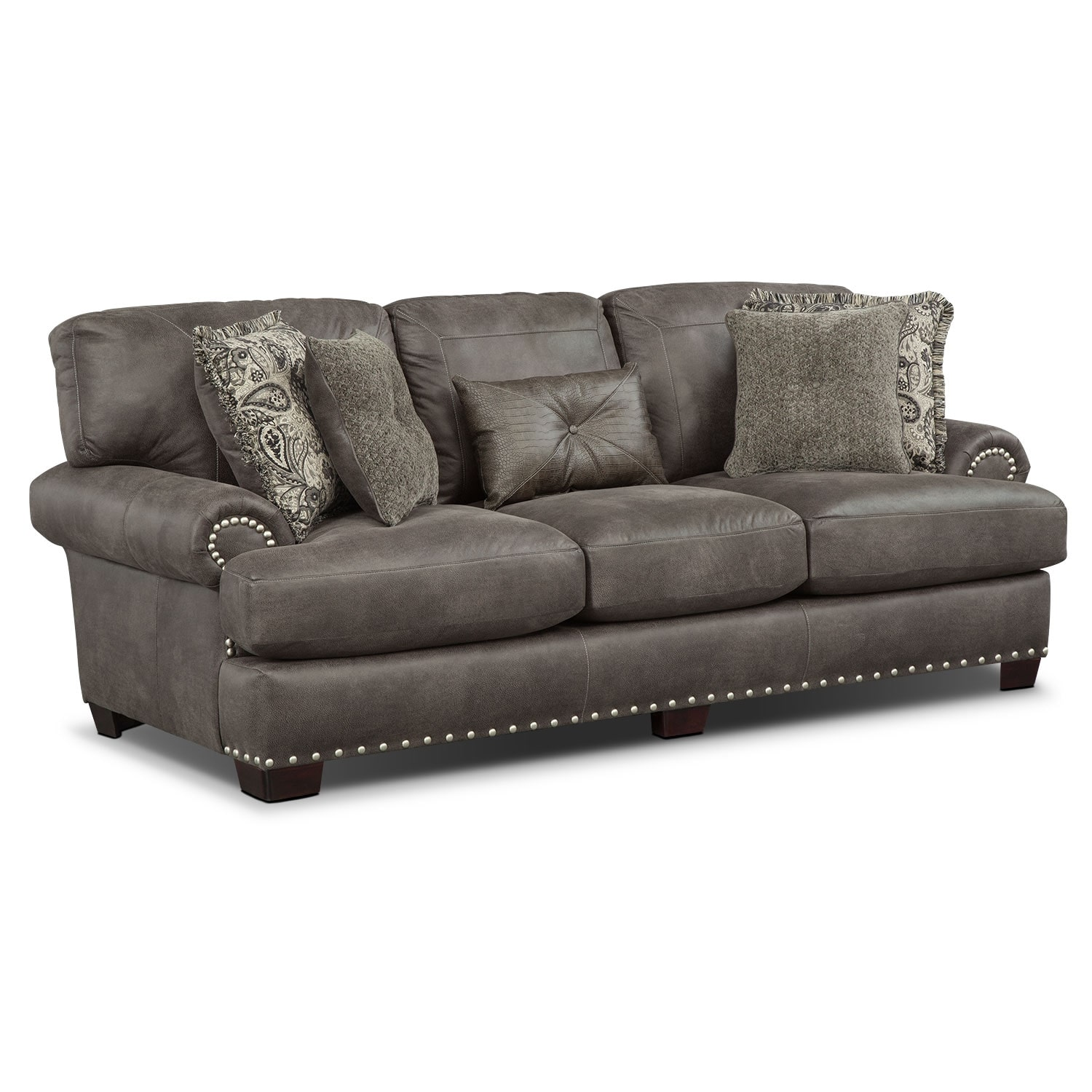 Living Room Furniture - Burlington Sofa - Steel