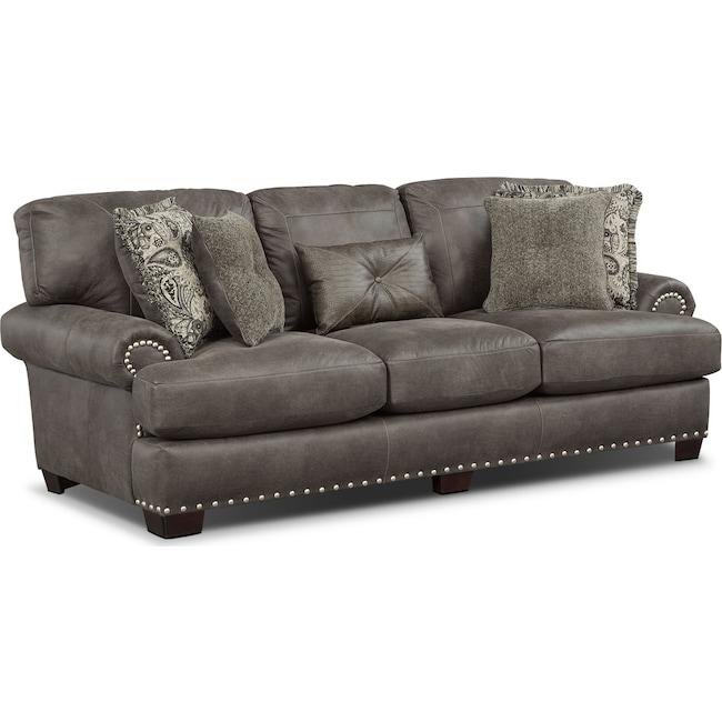 Living Room Furniture - Burlington Sofa - Steel