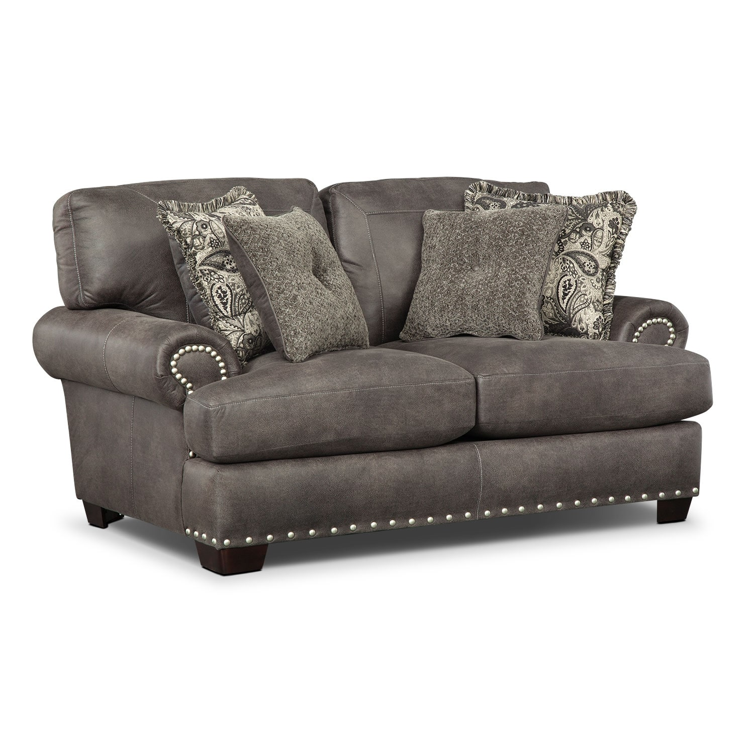 Living Room Furniture - Burlington Steel Loveseat