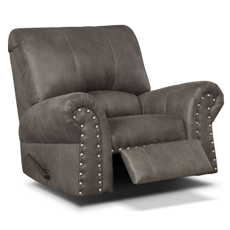 Living Room Furniture - Burlington Recliner - Steel