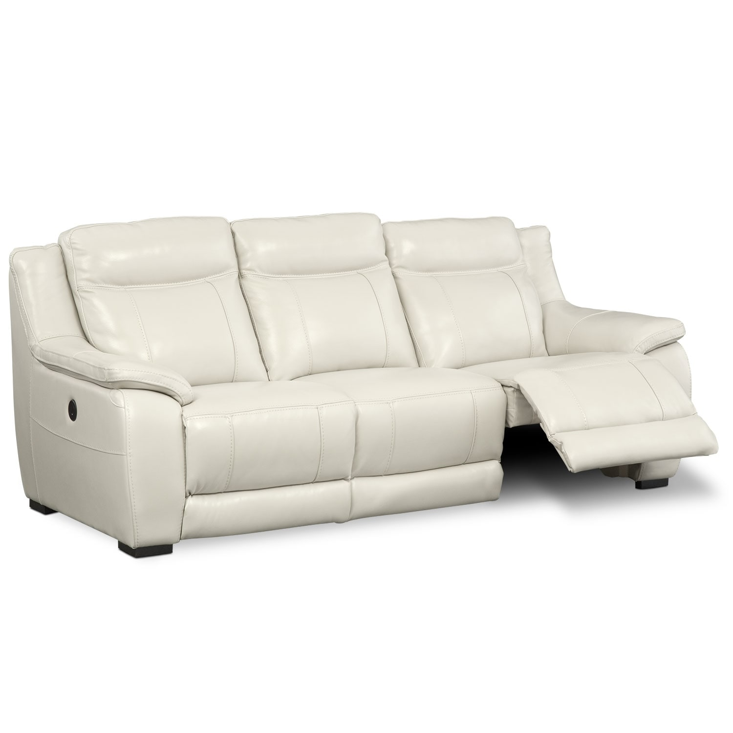Lido Power Reclining Sofa Ivory Value City Furniture