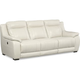 Lido Power Reclining Sofa - Ivory