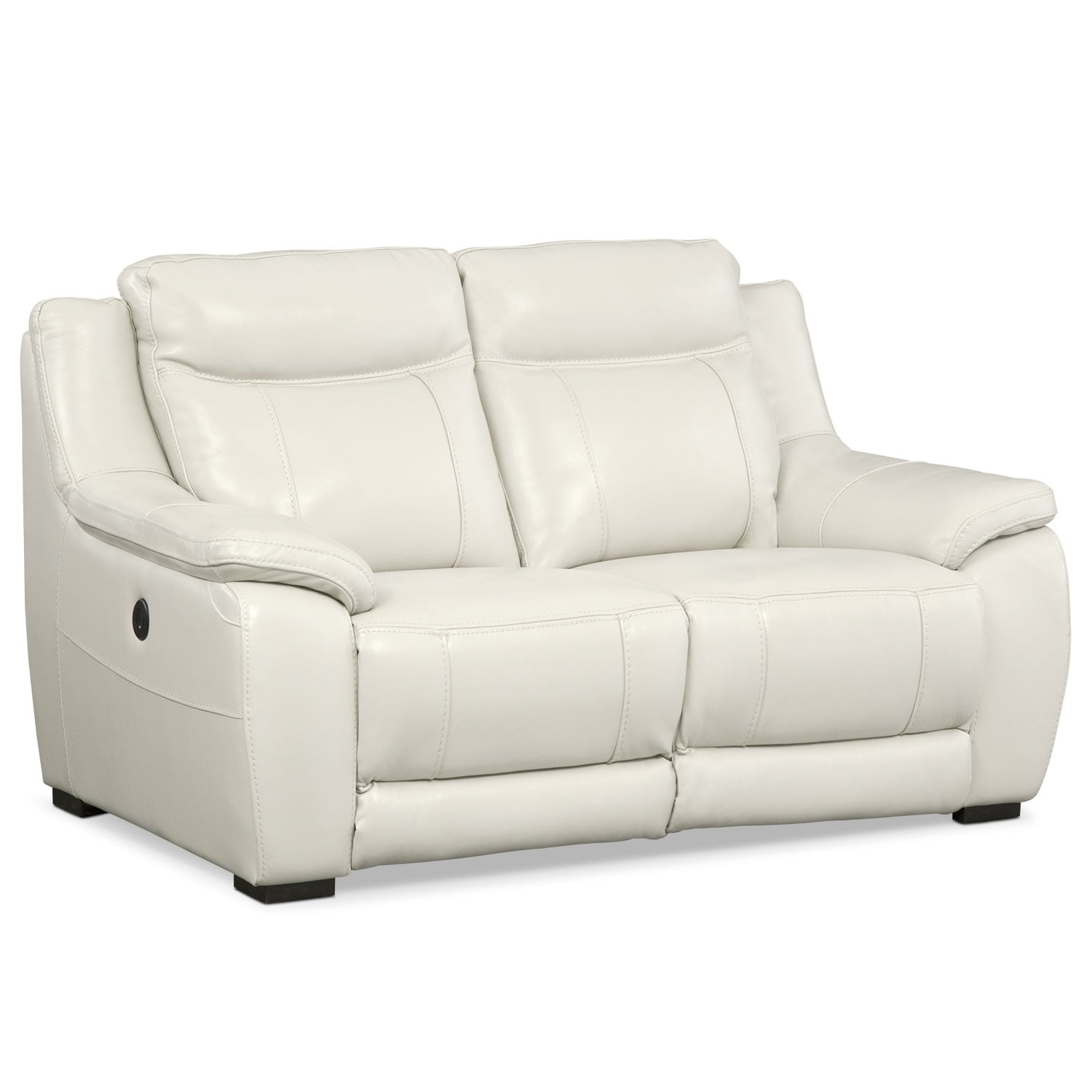 Living Room Furniture - Lido Ivory Power Reclining Loveseat
