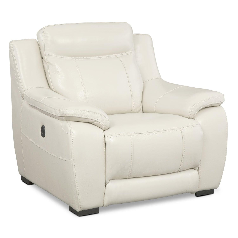 Living Room Furniture - Lido Ivory Power Recliner