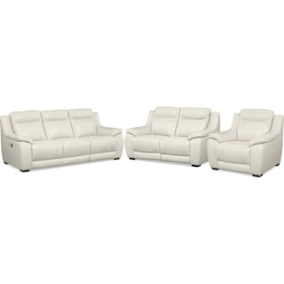 The Ivory Power Reclining Collection - Ivory