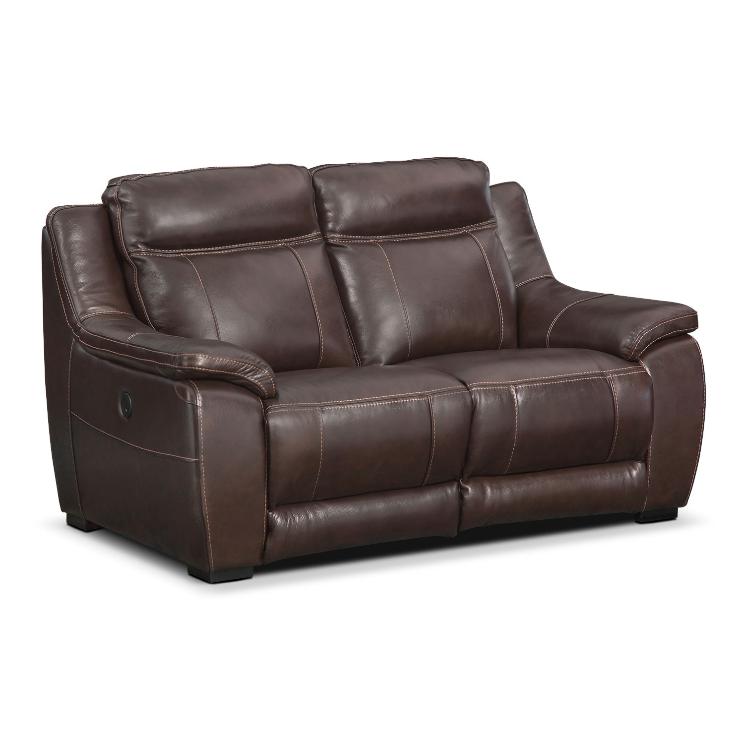 Lido Power Reclining Loveseat Brown Value City