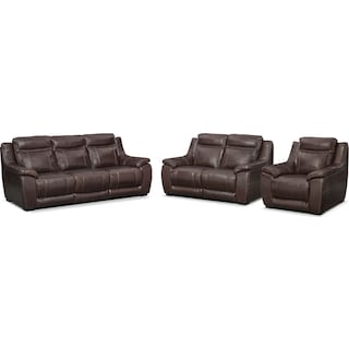 The Lido Power Reclining Collection - Brown