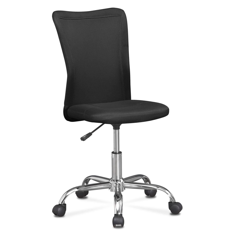 Kids Furniture - Mist Desk Chair - Black