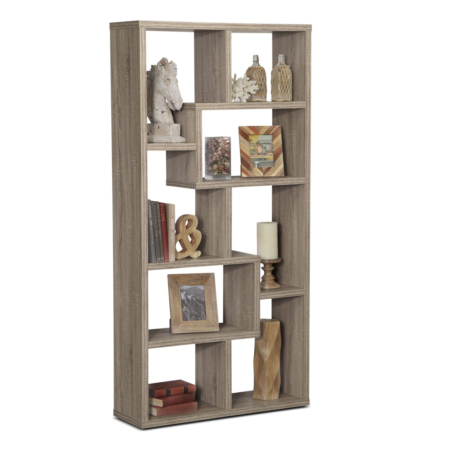 Obsidian Bookcase - Taupe