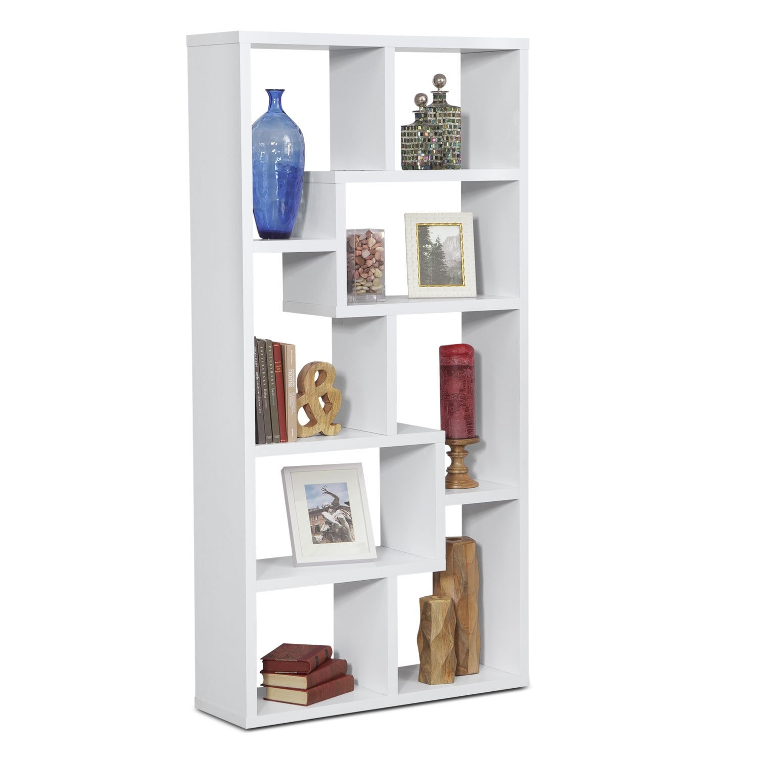Accent and Occasional Furniture - Obsidian Bookcase - White