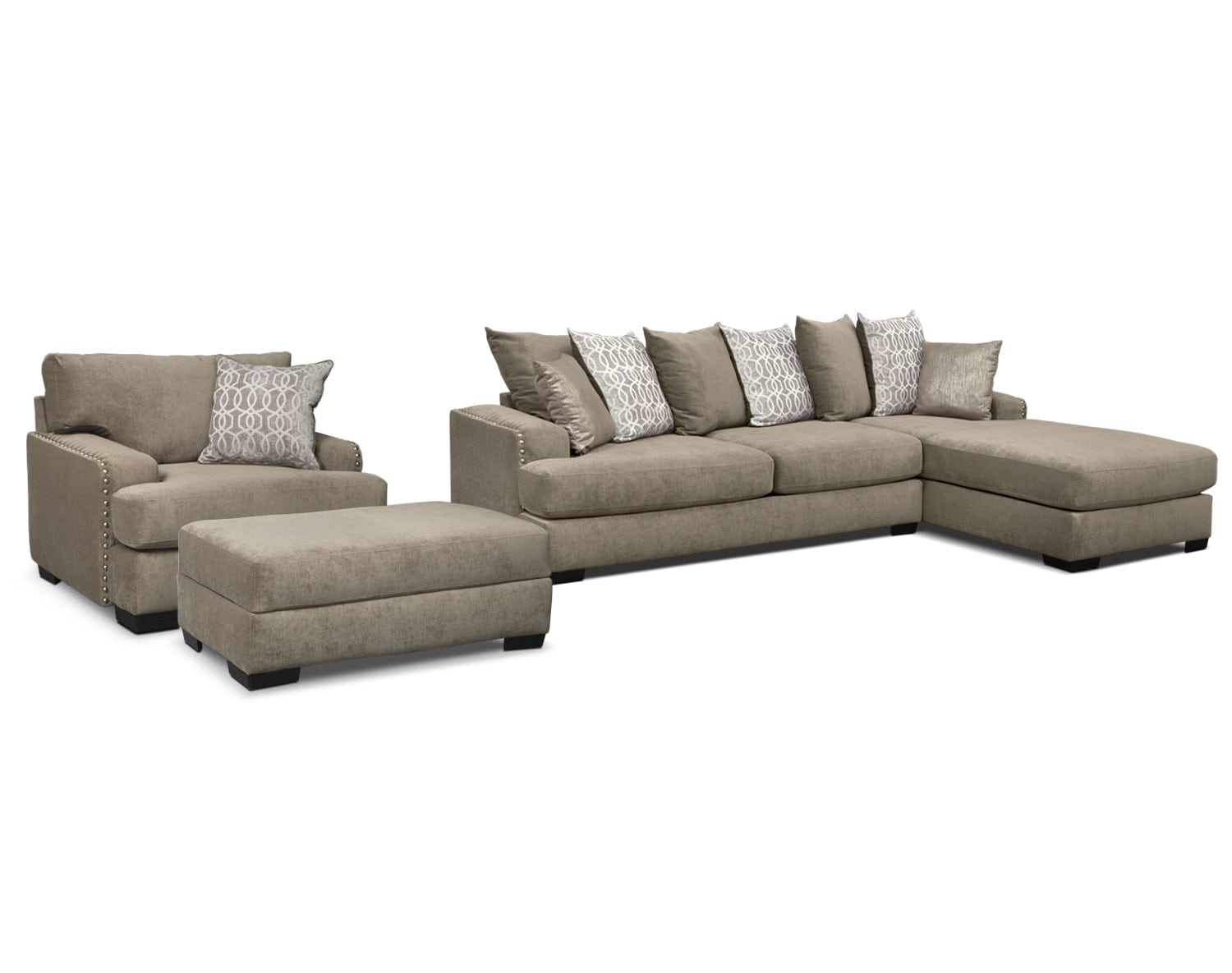 The Tempo Sectional Collection Platinum Value City Furniture