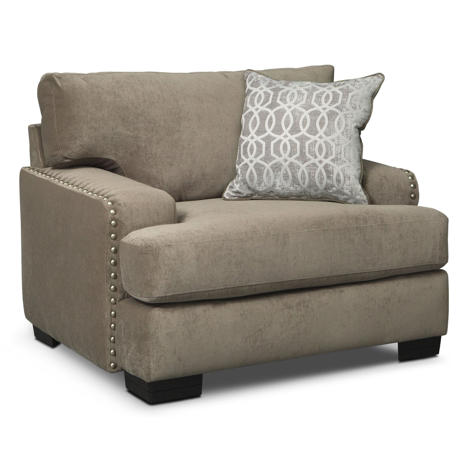 Living Room Furniture - Tempo Chair - Platinum