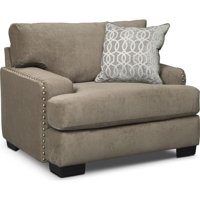 Living Room Furniture - Tempo Chair - Platinum