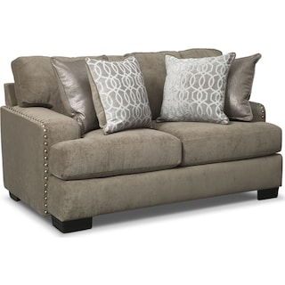 Tempo Loveseat - Platinum