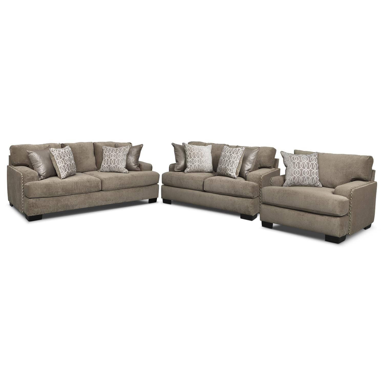 Living Room Furniture - Tempo 3 Pc. Living Room