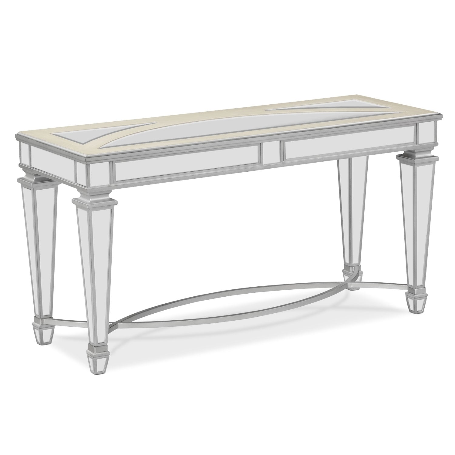 royale sofa table mirror value city furniture and mattresses rh valuecityfurniture com mirrored sofa table furniture mirrored sofa table furniture