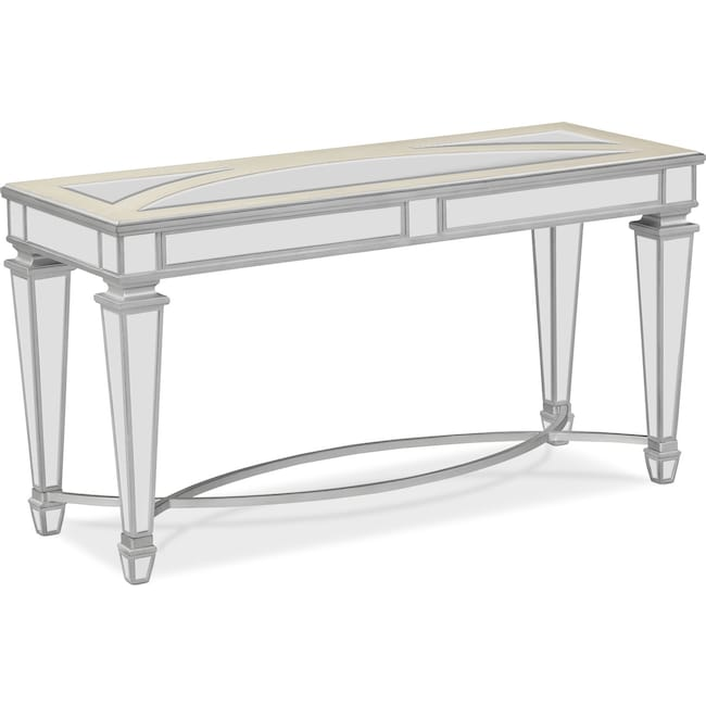 Accent And Occasional Furniture Royale Sofa Table Mirror