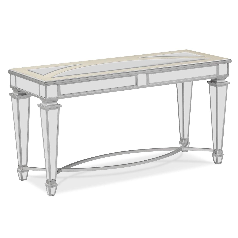 royale sofa table mirror - White Sofa Table