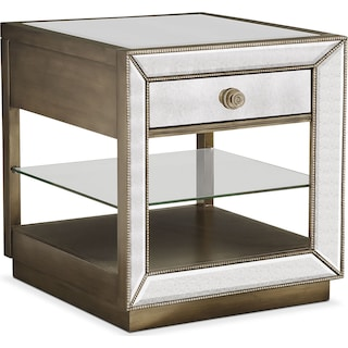 Reflection End Table - Antiqued Mirror