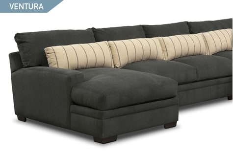 Shop the Venture Charcoal 3 piece sectional