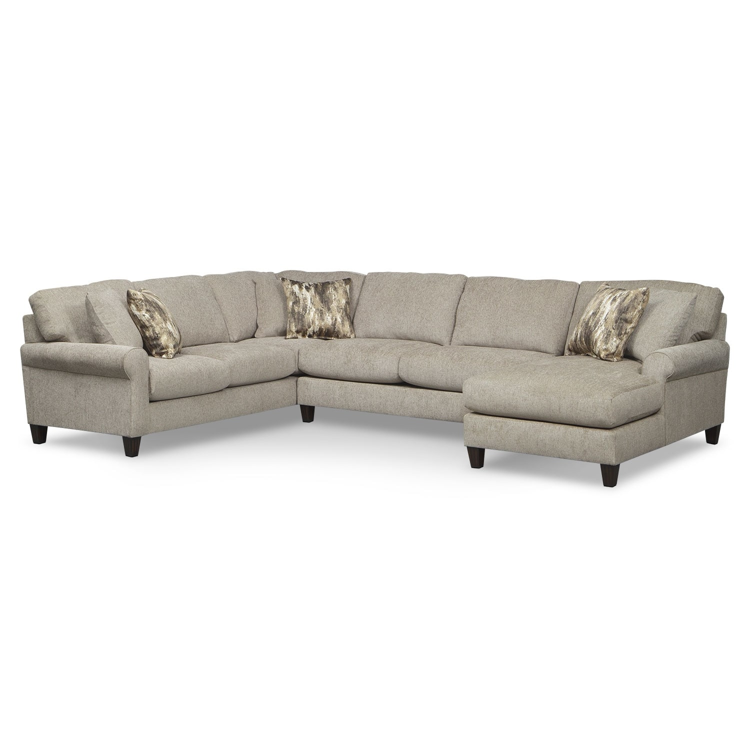Karma 3-Piece Right-Facing Sectional - Mink