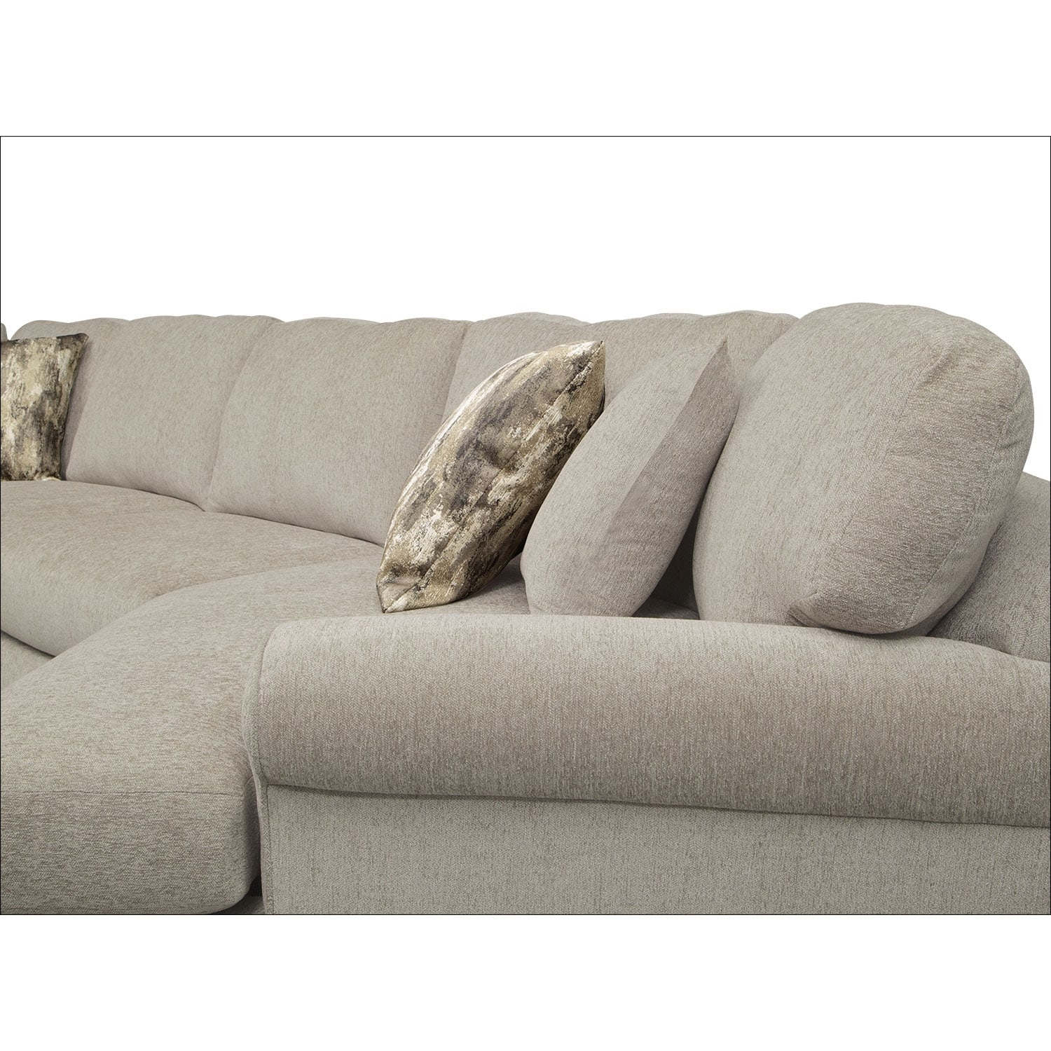 Karma 3 Piece Sectional with Right Facing Cuddler Mink