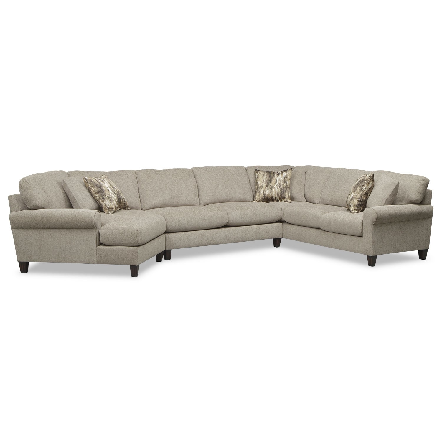 Karma Mink 3 Pc. Sectional with Left-Facing Cuddler