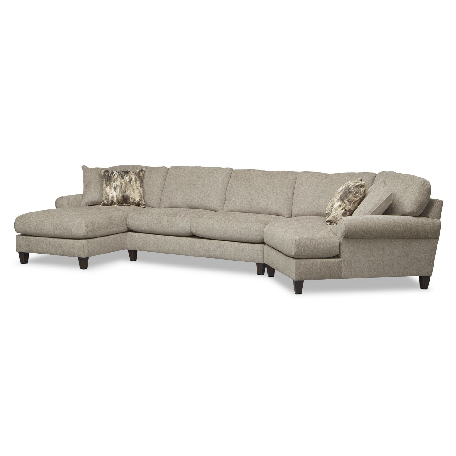 Karma 3 Piece Sectional Mink