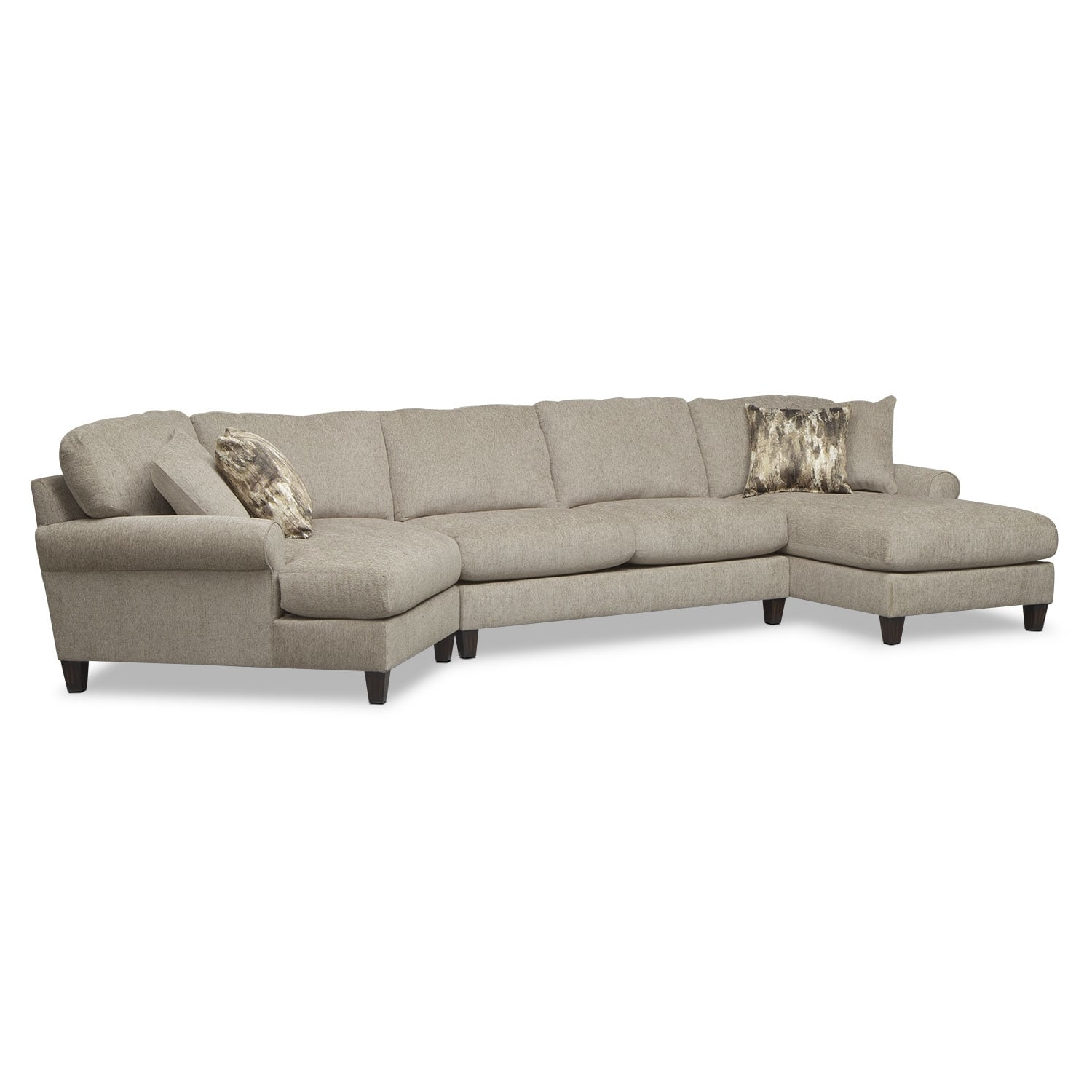 Karma 3 Piece Sectional With Left Facing Cuddler And Right