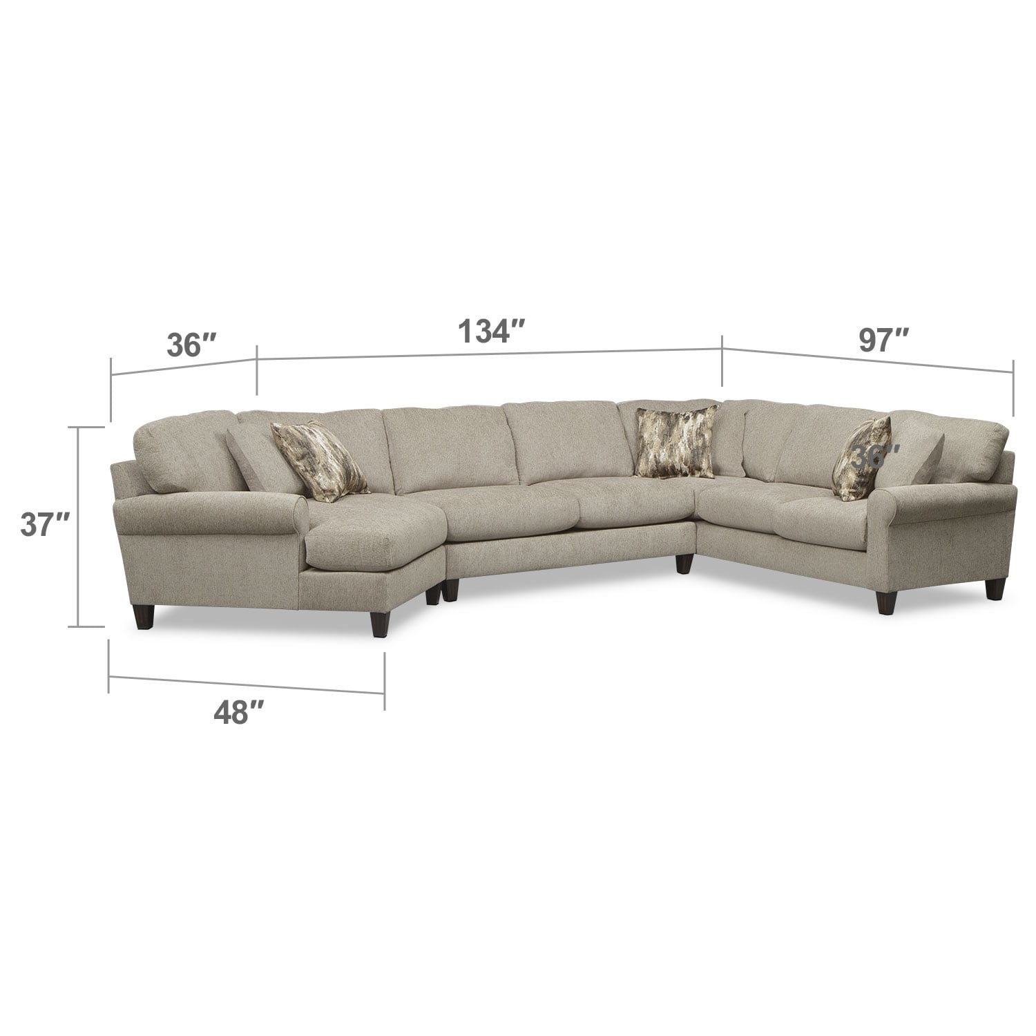 Click to change image.  sc 1 st  Value City Furniture : left cuddler sectional - Sectionals, Sofas & Couches
